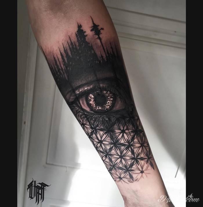 Tatuaż Ukryty pośród cieni...