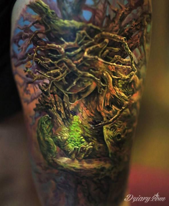 Tatuaż W drzewcu od...