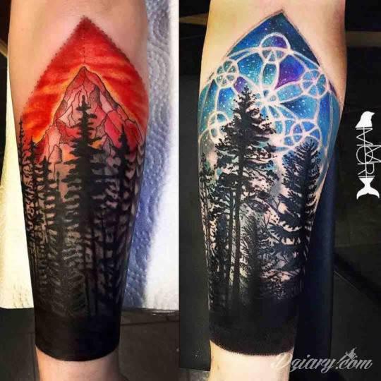 Tatuaż W miejscu starcia...