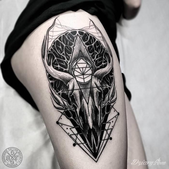 Tatuaż Wewnątrz czaszki zawarty...