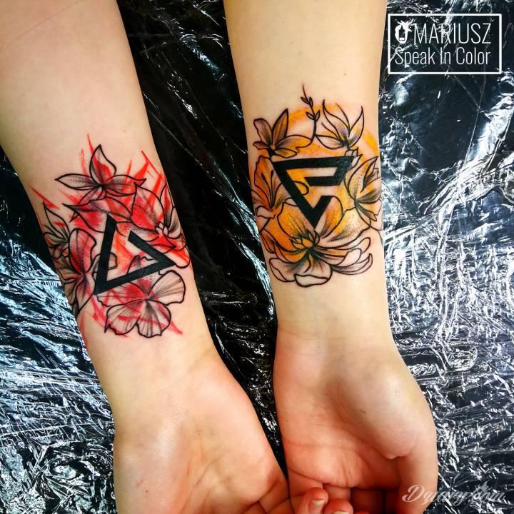 Tatuaż Wiedźmińskie znaki w...
