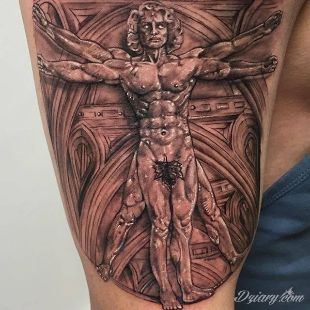 Witruwiański człowiek Da Vinci'iego.