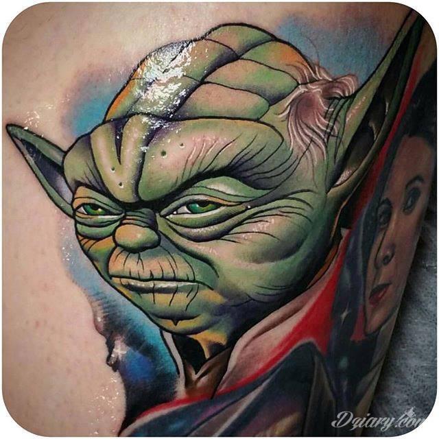 Tatuaż Yoda, szacunek!