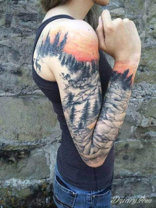 Tatuaż Za górą moich...